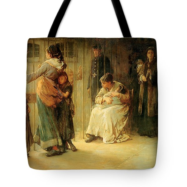 Newgate Committed For Trial, 1878 Tote Bag by Frank Holl