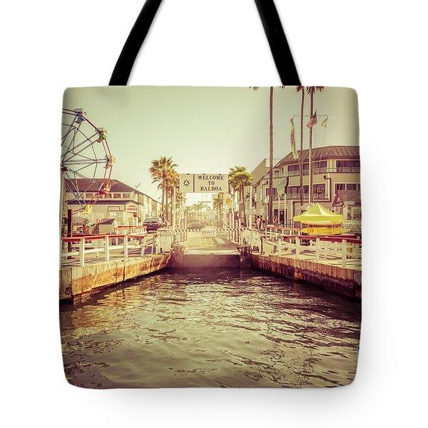 Newport Beach Balboa Island Ferry Dock Photo Tote Bag by Paul Velgos
