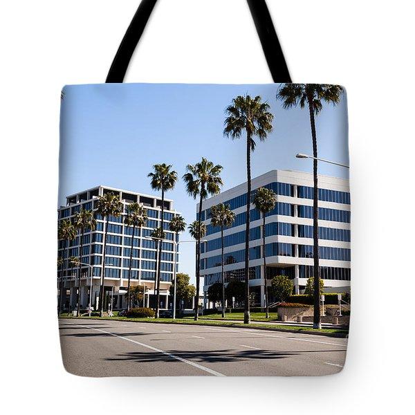 Newport Beach Office Buildings Orange County California Tote Bag by Paul Velgos