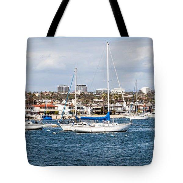 Newport Beach Panorama Tote Bag by Paul Velgos