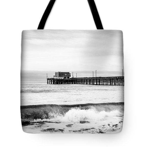 Newport Beach Pier Tote Bag by Paul Velgos