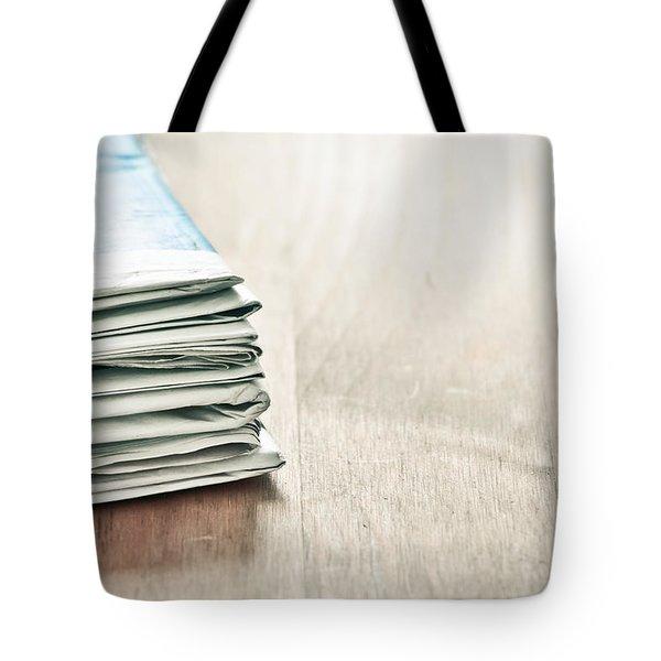 Newspapers Tote Bag by Tom Gowanlock