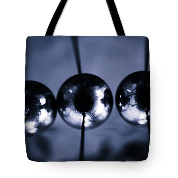 Newtons Cradle Tote Bag by Stelios Kleanthous