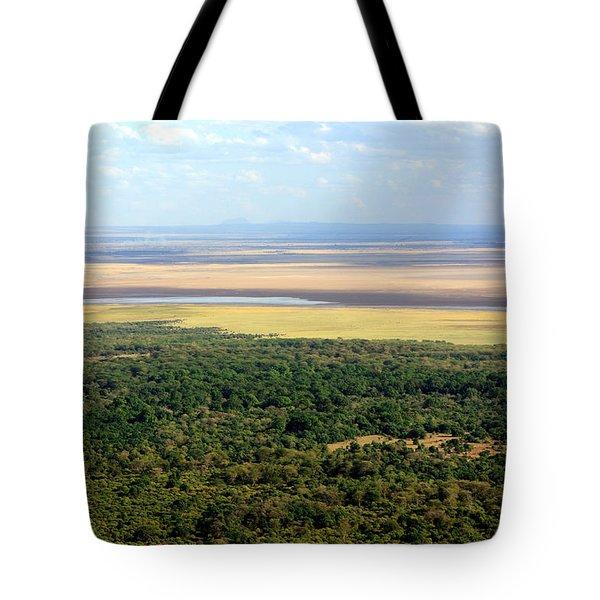 Ngorongoro Crater Tanzania East Africa Tote Bag by Aidan Moran