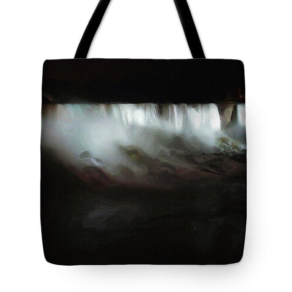 Niagara Falls By Night Tote Bag by Ayse Deniz