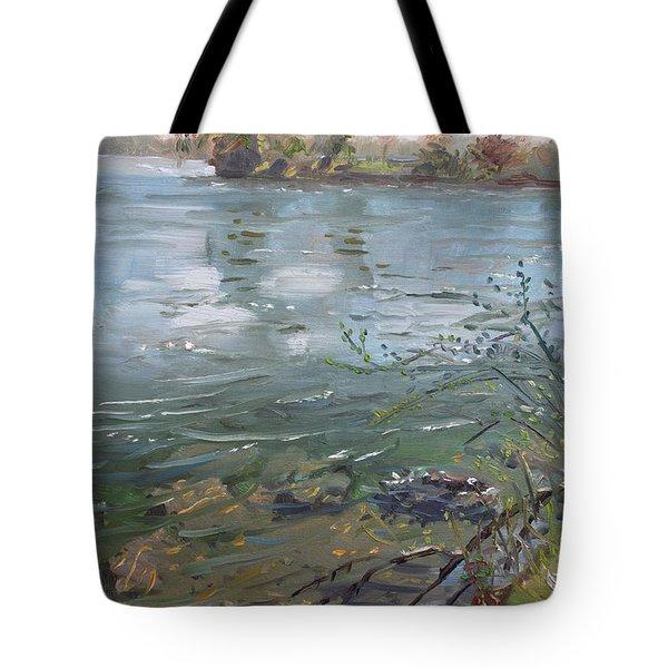 Niagara River Spring 2013 Tote Bag by Ylli Haruni