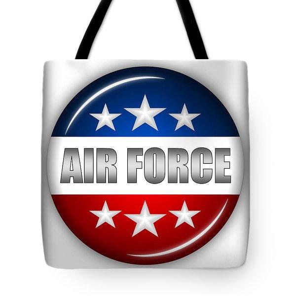 Nice Air Force Shield Tote Bag by Pamela Johnson