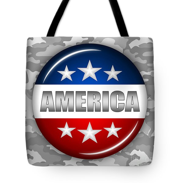 Nice America Shield 2 Tote Bag by Pamela Johnson