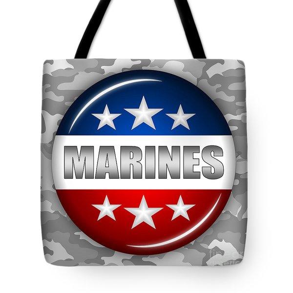 Nice Marines Shield 2 Tote Bag by Pamela Johnson