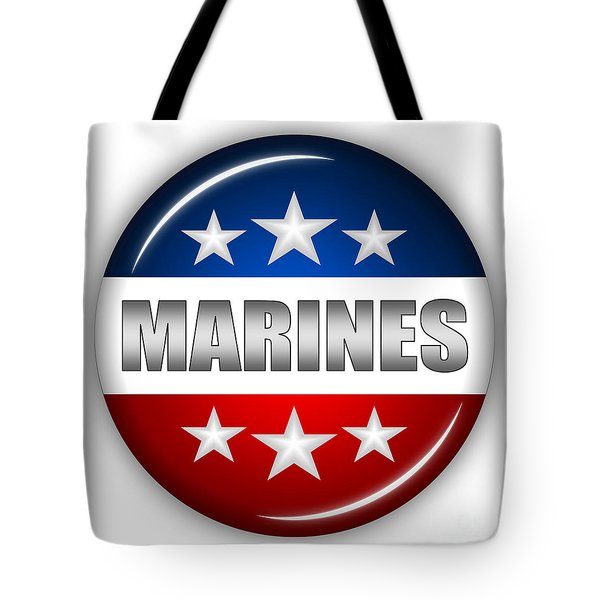 Nice Marines Shield Tote Bag by Pamela Johnson
