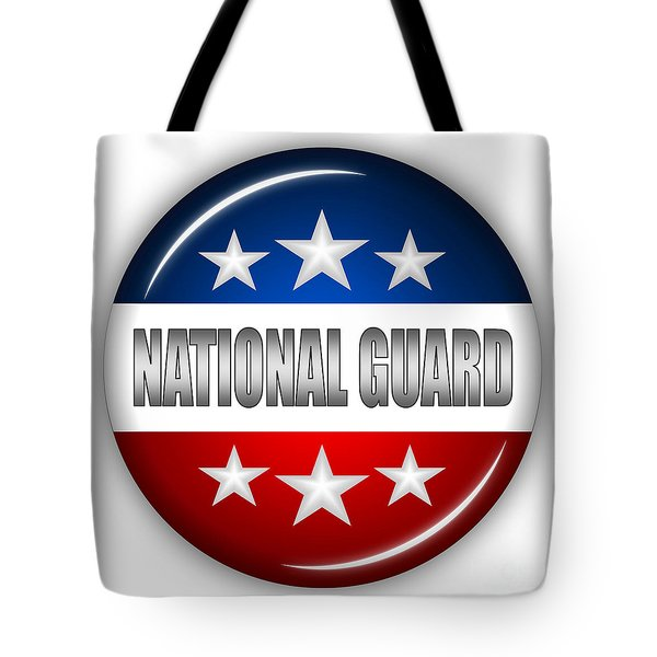 Nice National Guard Shield Tote Bag by Pamela Johnson