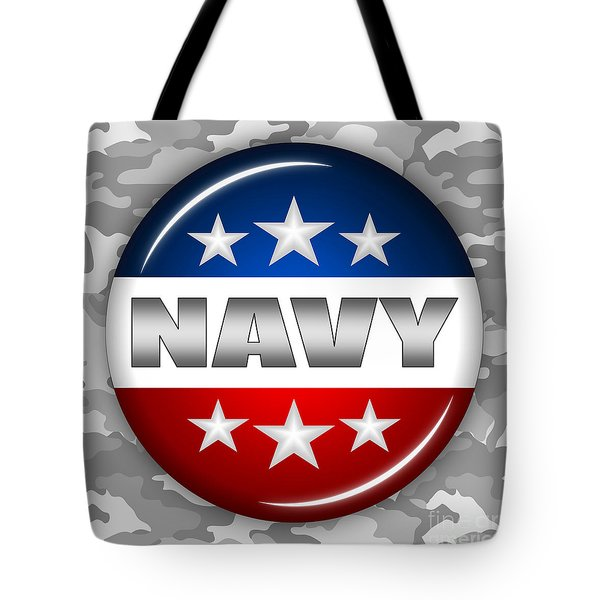 Nice Navy Shield 2 Tote Bag by Pamela Johnson