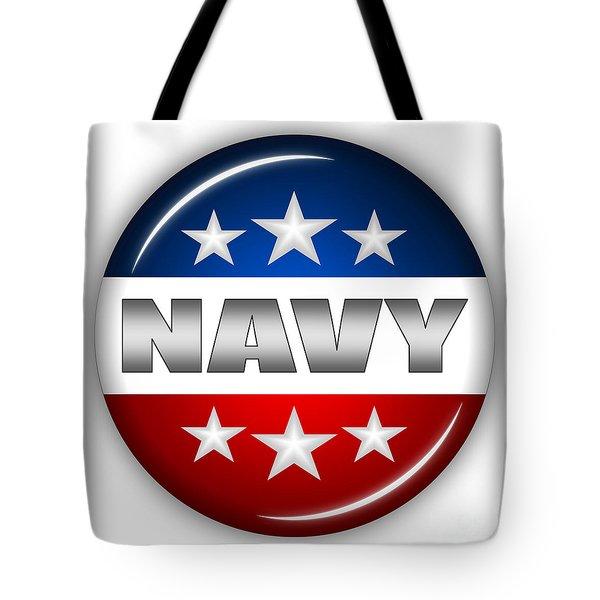 Nice Navy Shield Tote Bag by Pamela Johnson