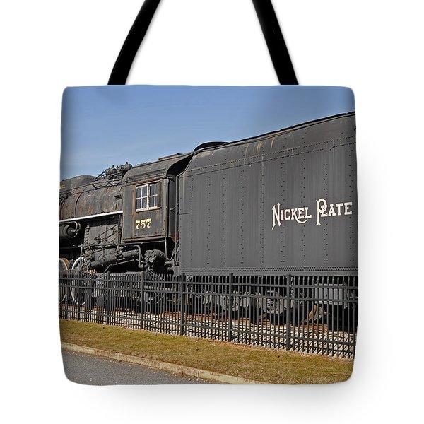 Nickel Plate Road Tote Bag by Skip Willits