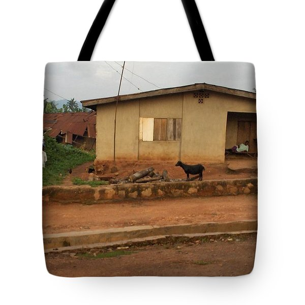 Nigerian House Tote Bag by Amy Hosp