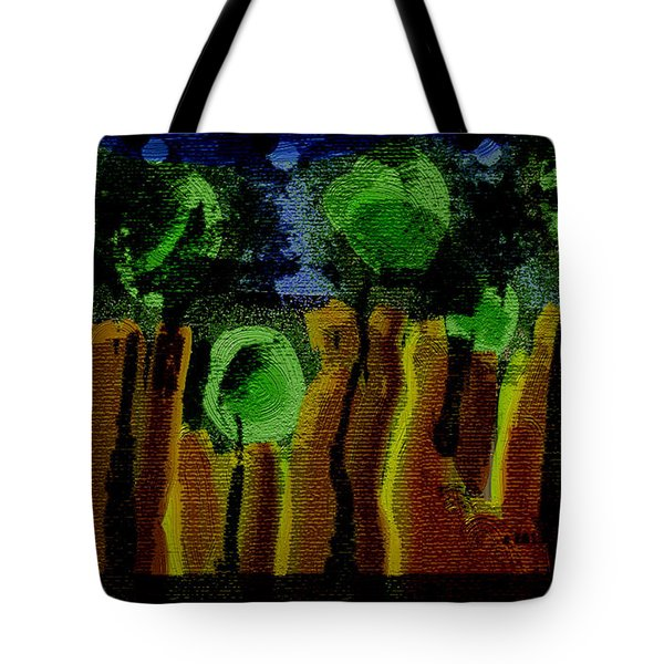 Night Forest Tapestry Tote Bag by Lenore Senior