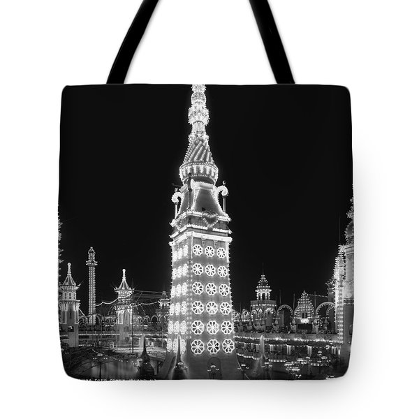 Night In Luna Park Tote Bag by Nomad Art And  Design