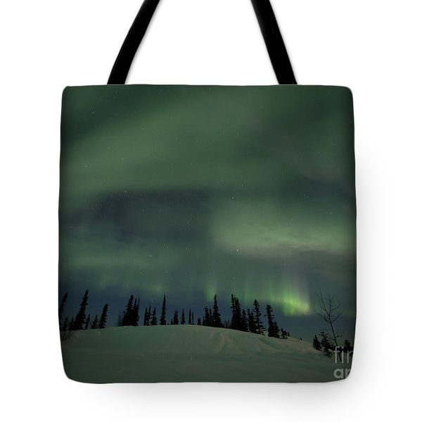 night lights Tote Bag by Priska Wettstein