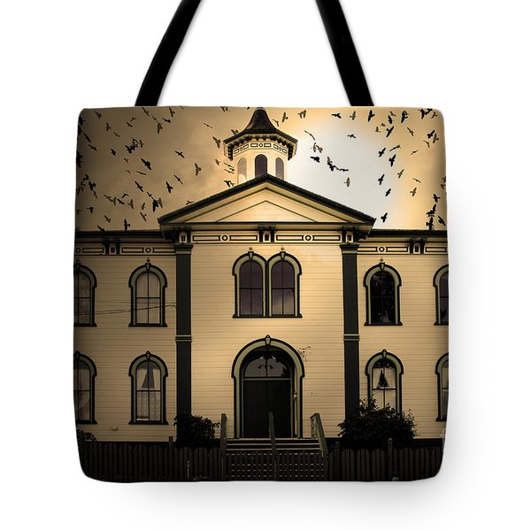 Night of The Birds . Sepia . 7D12487 Tote Bag by Wingsdomain Art and Photography