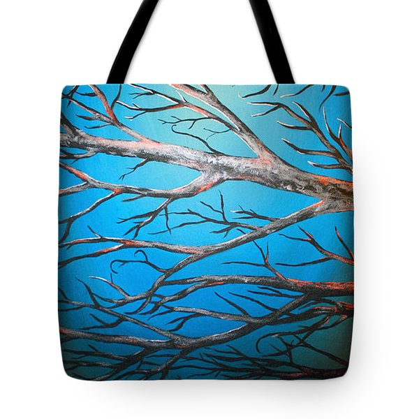 Night Of The Eclipse Panel 2 Tote Bag by Teshia Art