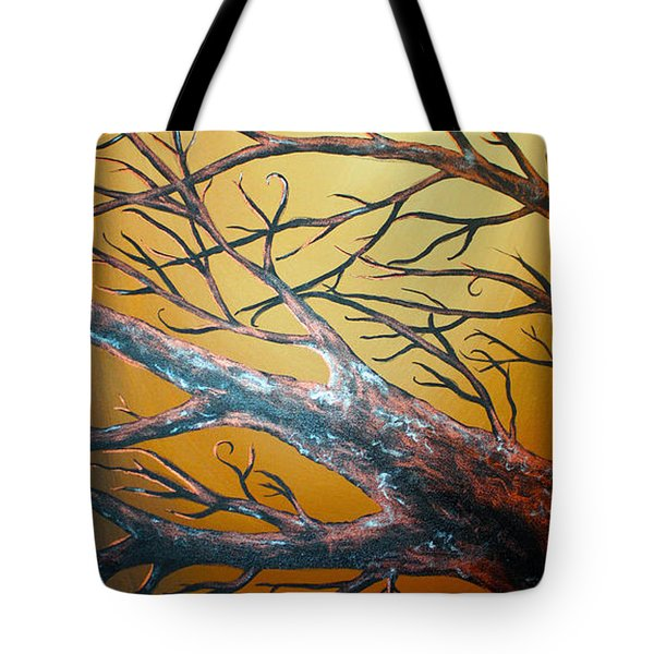 Night Of The Eclipse Panel 3 Tote Bag by Teshia Art