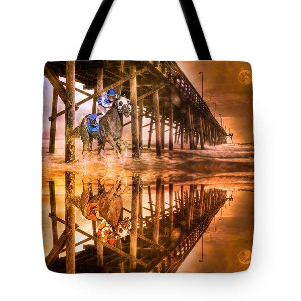 Night Run III Patriotic  Tote Bag by Betsy C  Knapp