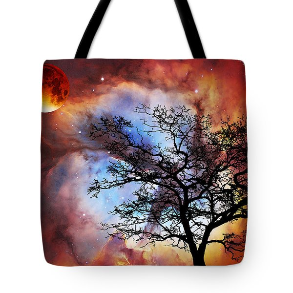 Night Sky Landscape Art By Sharon Cummings Tote Bag by Sharon Cummings