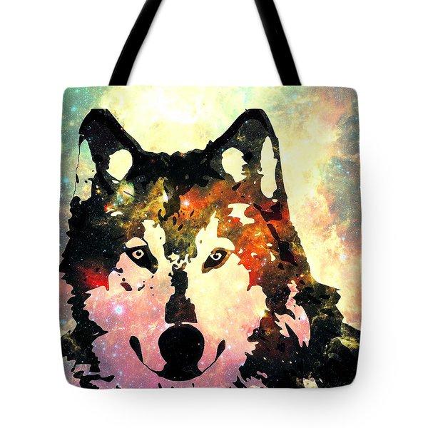 Night Wolf Tote Bag by Anastasiya Malakhova