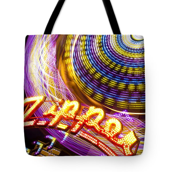 Night Zipper Tote Bag by Caitlyn  Grasso