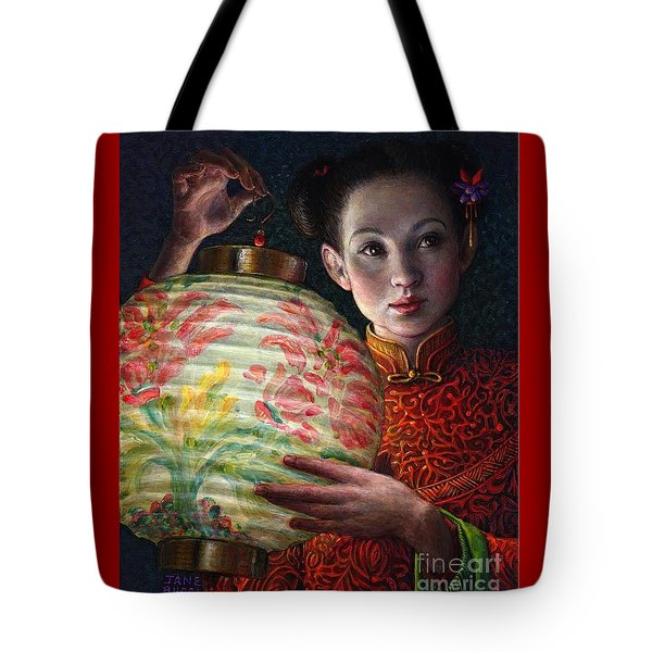 Nightingale Girl Tote Bag by Jane Bucci