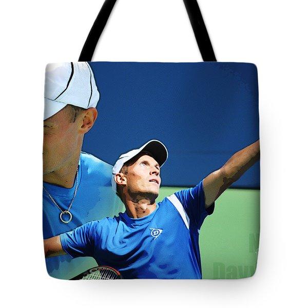 Nikolay Davydenko Tote Bag by Nishanth Gopinathan