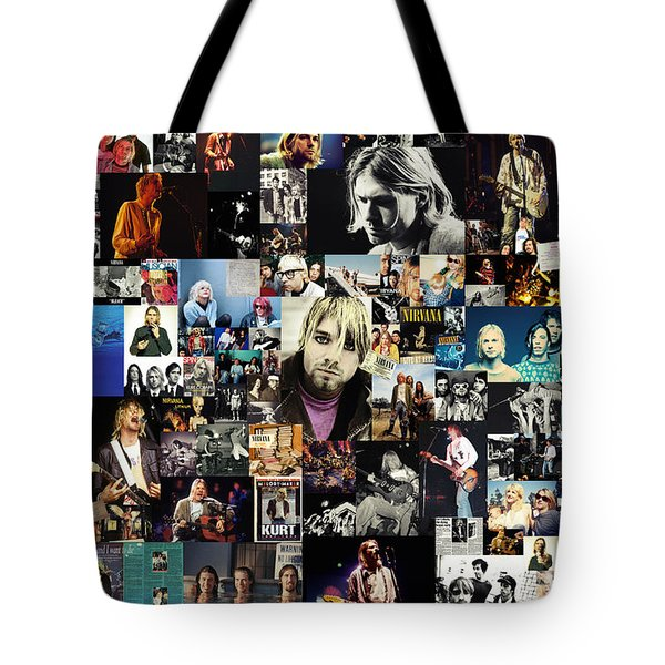 Nirvana Collage Tote Bag by Taylan Apukovska