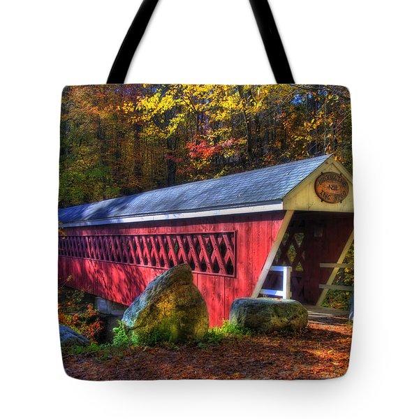 Nissitissit Bridge Brookline NH Tote Bag by Joann Vitali