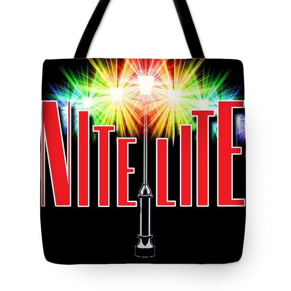 Nite Lite Book Cover Tote Bag by Mike Nellums
