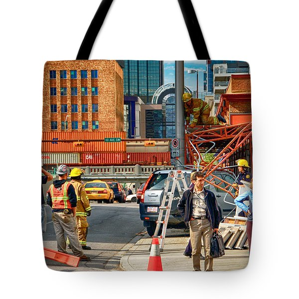 No Parking Anytime Tote Bag by Trever Miller