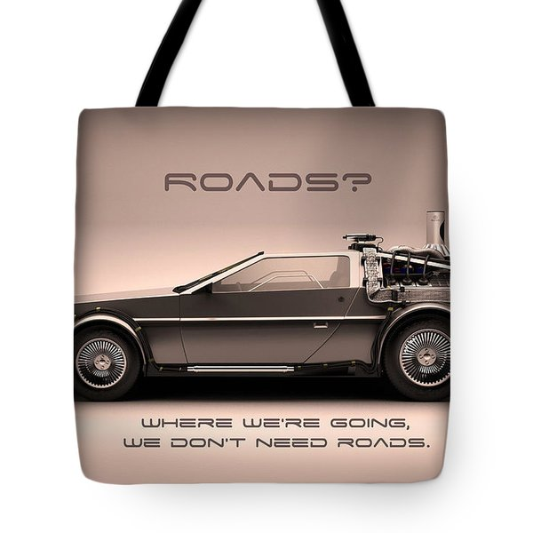 No Roads Tote Bag by Patrick Charbonneau