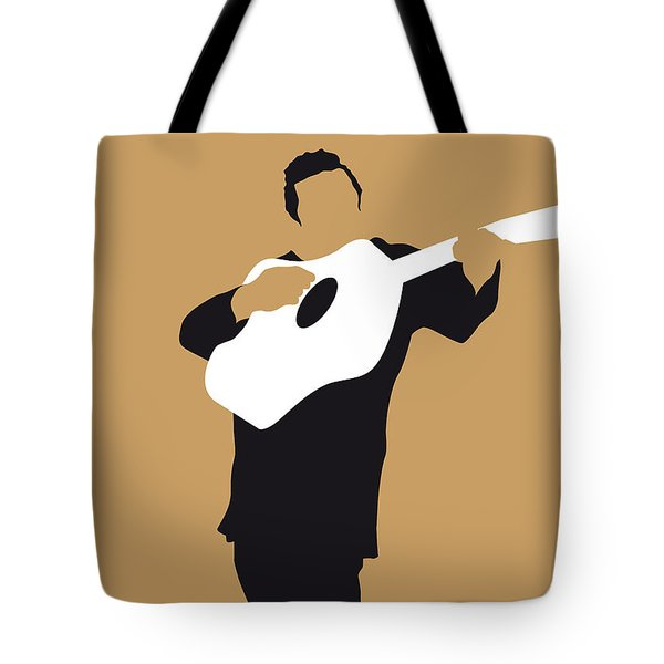 No010 My Johnny Cash Minimal Music Poster Tote Bag by Chungkong Art