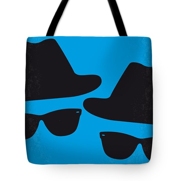 No012 My Blues Brother Minimal Movie Poster Tote Bag by Chungkong Art