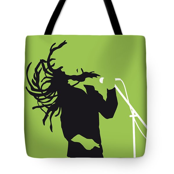 No016 My Bob Marley Minimal Music Poster Tote Bag by Chungkong Art