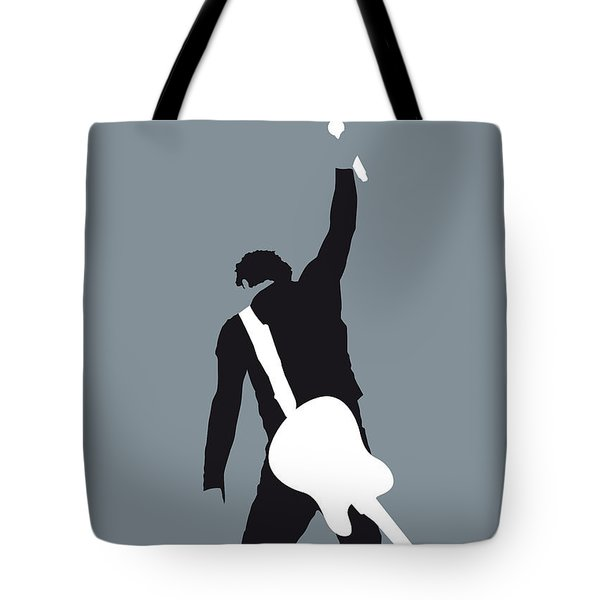 No017 My Bruce Springsteen Minimal Music Poster Tote Bag by Chungkong Art