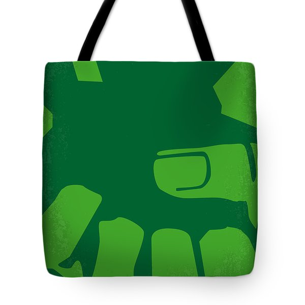 No040 My HULK minimal movie poster Tote Bag by Chungkong Art