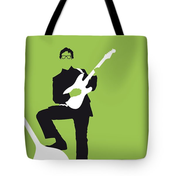 No056 My Buddy Holly Minimal Music Poster Tote Bag by Chungkong Art