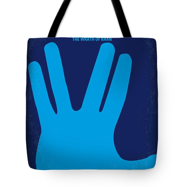 No082 My Star Trek 2 minimal movie poster Tote Bag by Chungkong Art