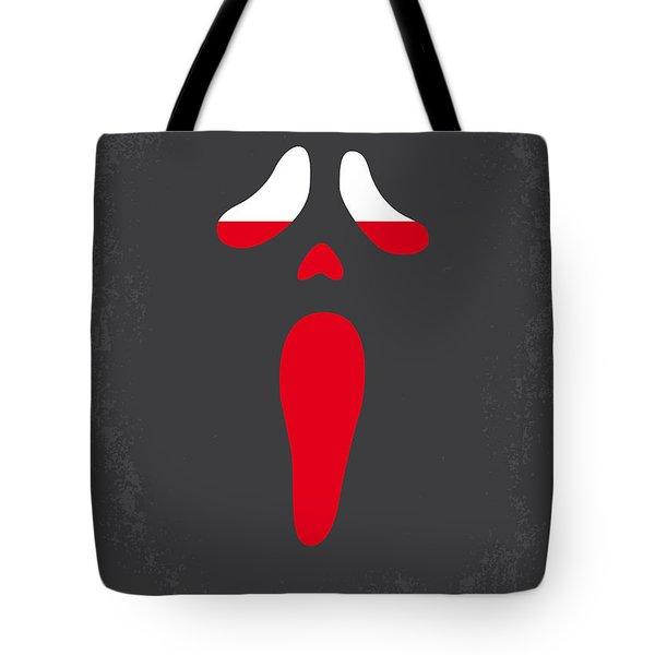 No121 My Scream Minimal Movie Poster Tote Bag by Chungkong Art