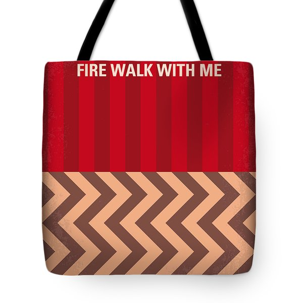 No169 My Fire Walk With Me Minimal Movie Poster Tote Bag by Chungkong Art