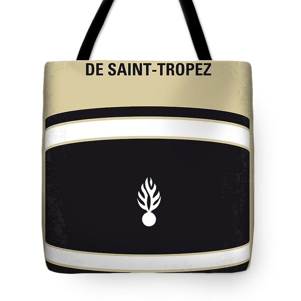 No186 My Le Gendarme de Saint-Tropez minimal movie poster Tote Bag by Chungkong Art