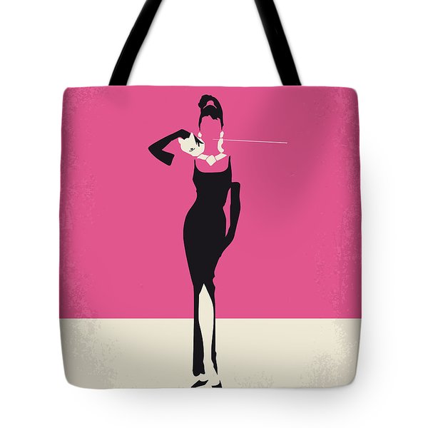 No204 My Breakfast At Tiffanys Minimal Movie Poster Tote Bag by Chungkong Art