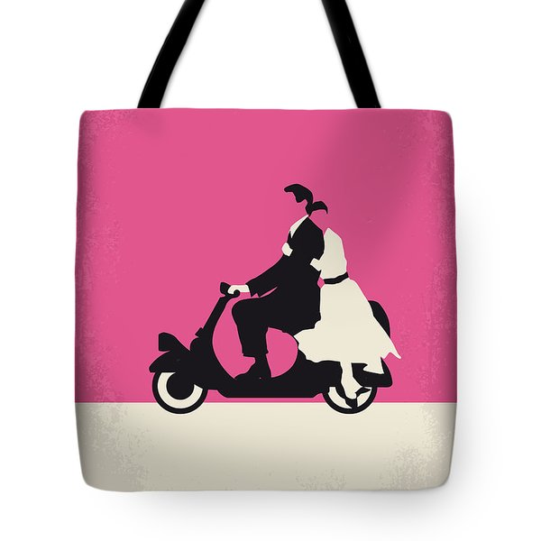 No205 My Roman Holiday Minimal Movie Poster Tote Bag by Chungkong Art