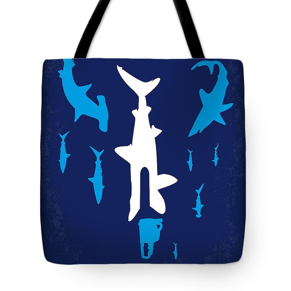 No216 My Sharknado minimal movie poster Tote Bag by Chungkong Art