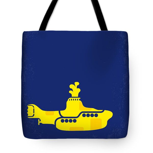 No257 My Yellow Submarine Minimal Movie Poster Tote Bag by Chungkong Art